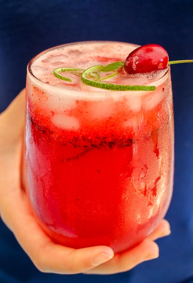 Sparkling Cherry Lime Cosmo Recipe