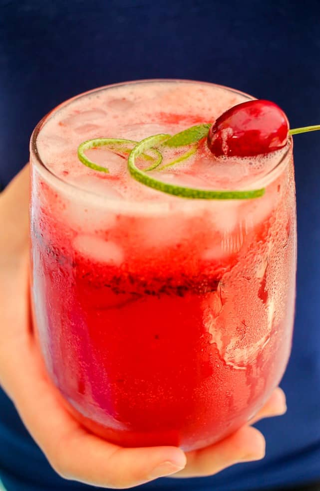 Sparkling Cherry Lime Cosmo