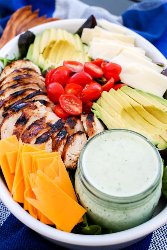 grilled chicken salad with homemade dressing
