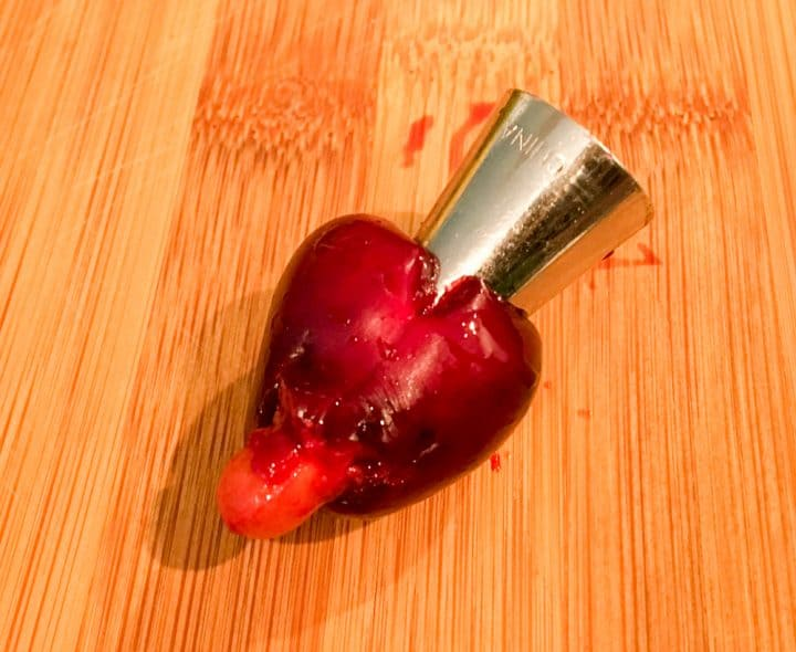 how to pit a cherry