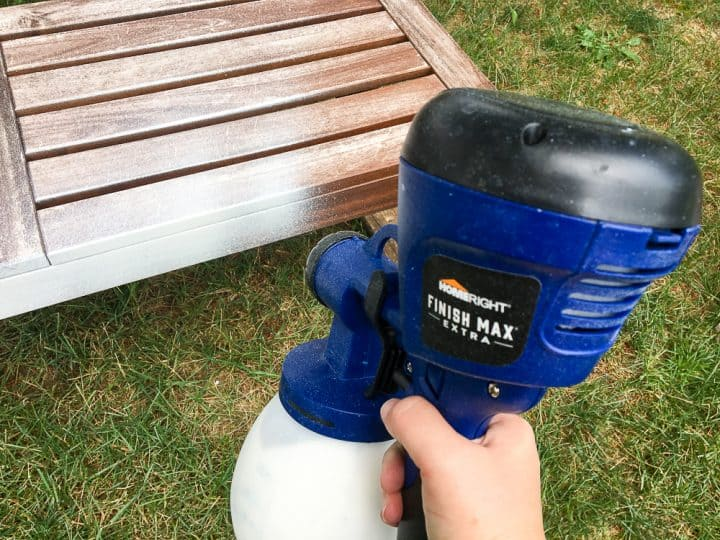 hwo to use a paint sprayer for outdoor wood furniture