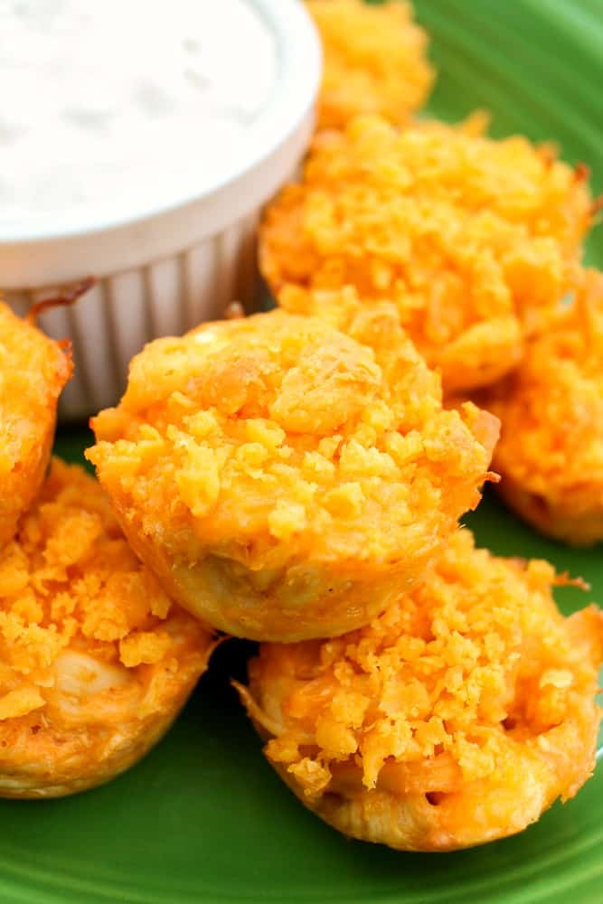 Buffalo Chicken Bites with bleu cheese appetizer_
