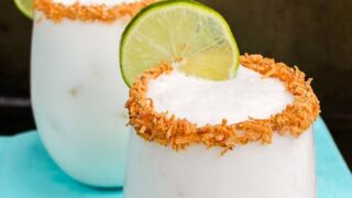 Coconut Lime Daiquiri Cocktail with Rum