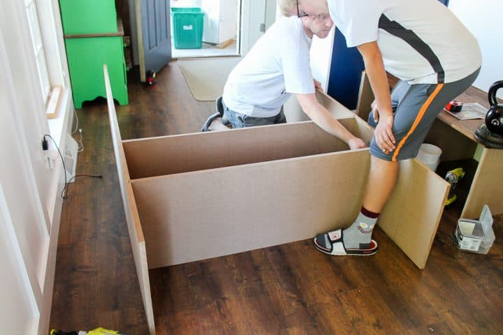 How to build DIY mudroom coat bench with cubbies guide