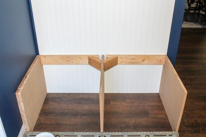 How to build a mudroom coat bench tutorial
