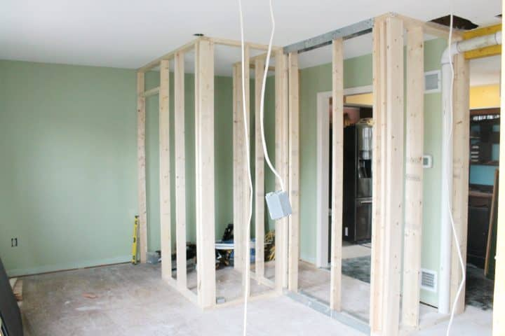 How to frame walls for new bathroom