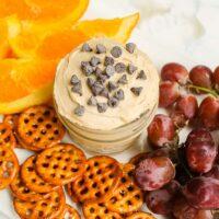 Easy healthy peanut butter dip recipe with greek yogurt