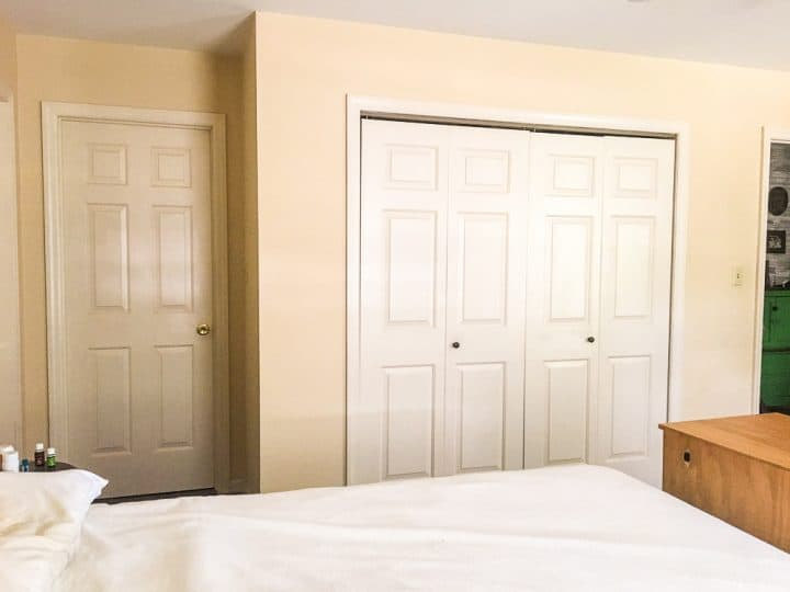 Master bedroom before painting makeover_