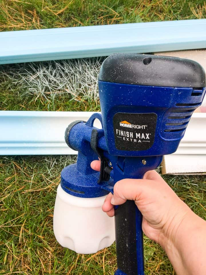 how to paint spray faux styrofoam crown molding tutorial