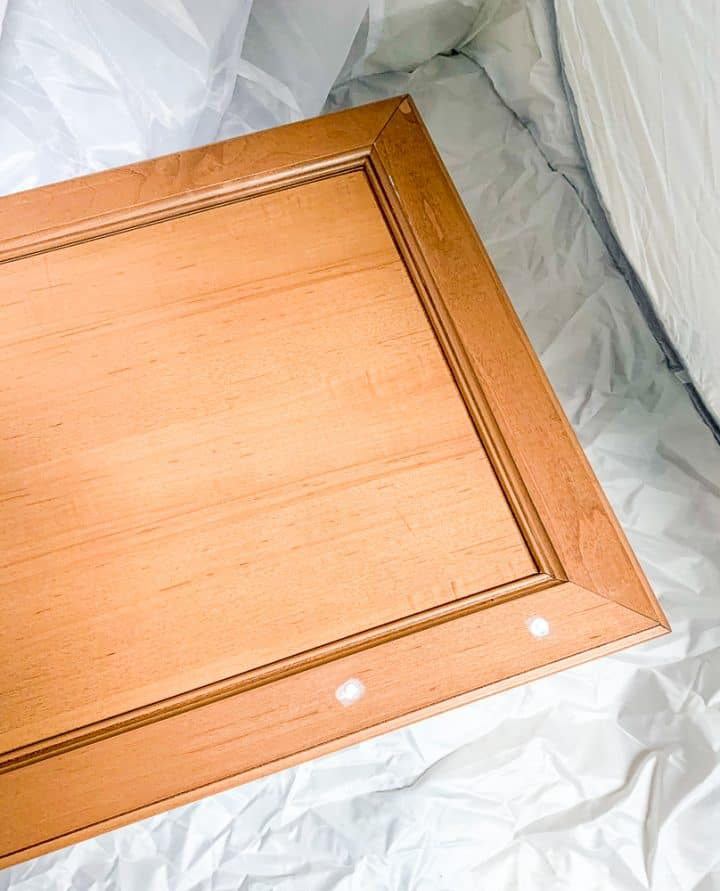 Cabinet door repurposeed upcycle prep work