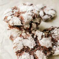 Chocolate Fudge Crinkle Cookies Recipe