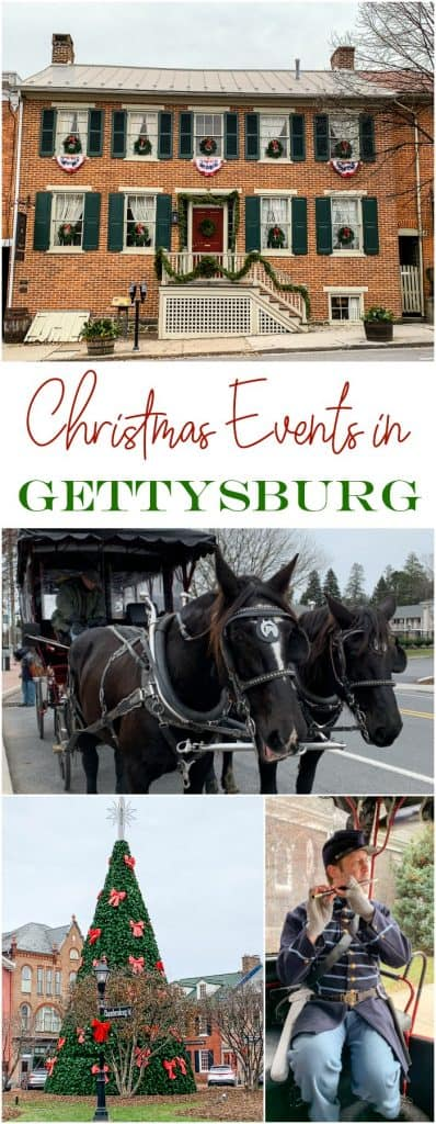 Christmas events schedule in Gettysburg PA