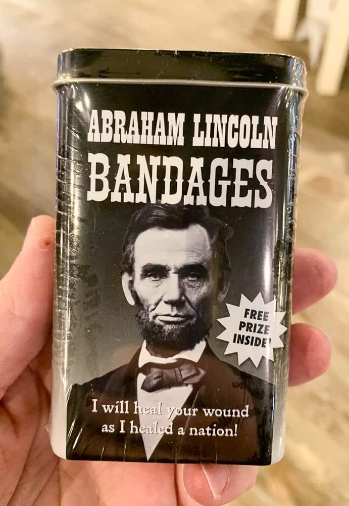 Gettysburg Heritage Center Lincoln Souvenirs