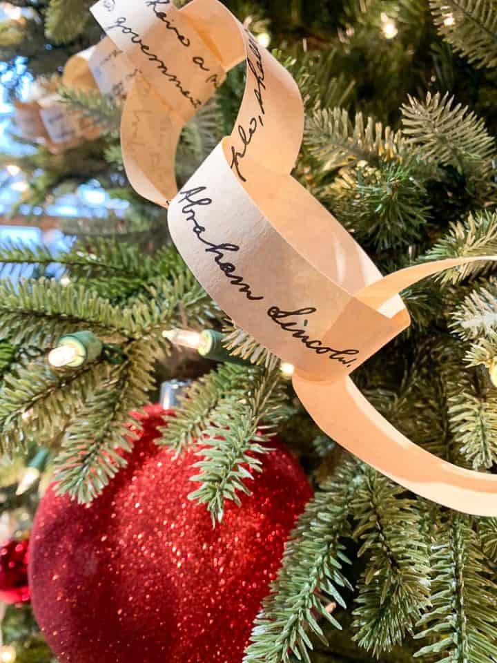 Gettysburg Visitors Center Christmas tree