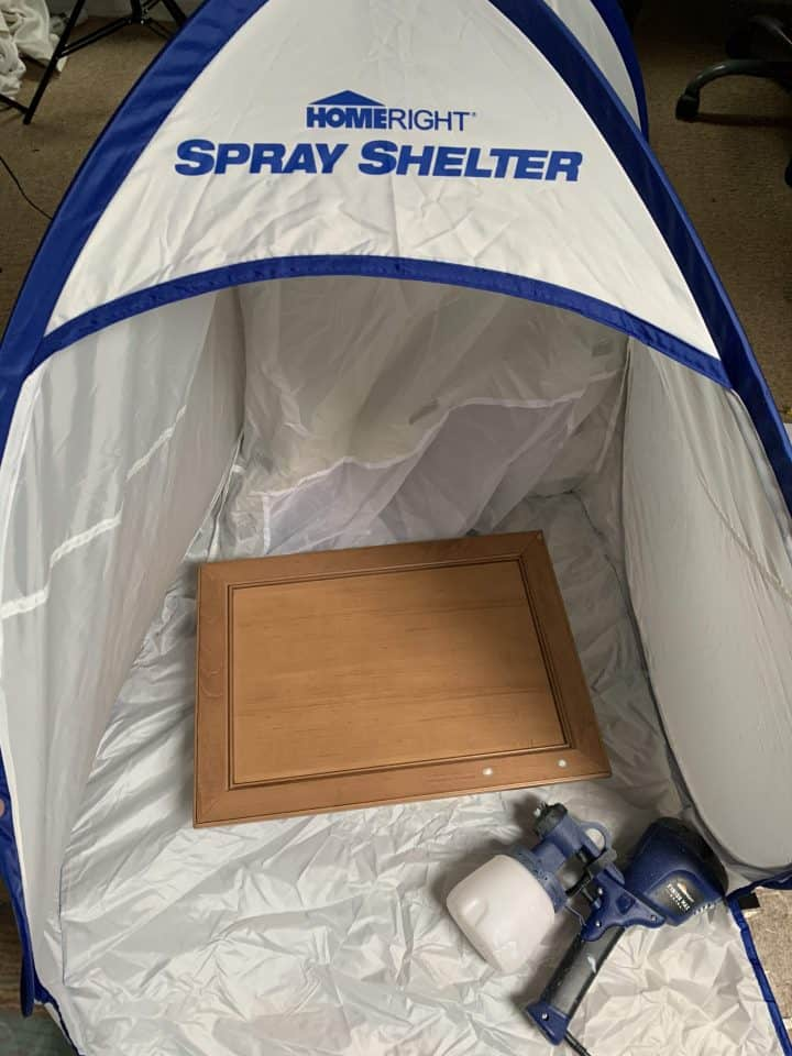 Homeright spray shelter and paint sprayer