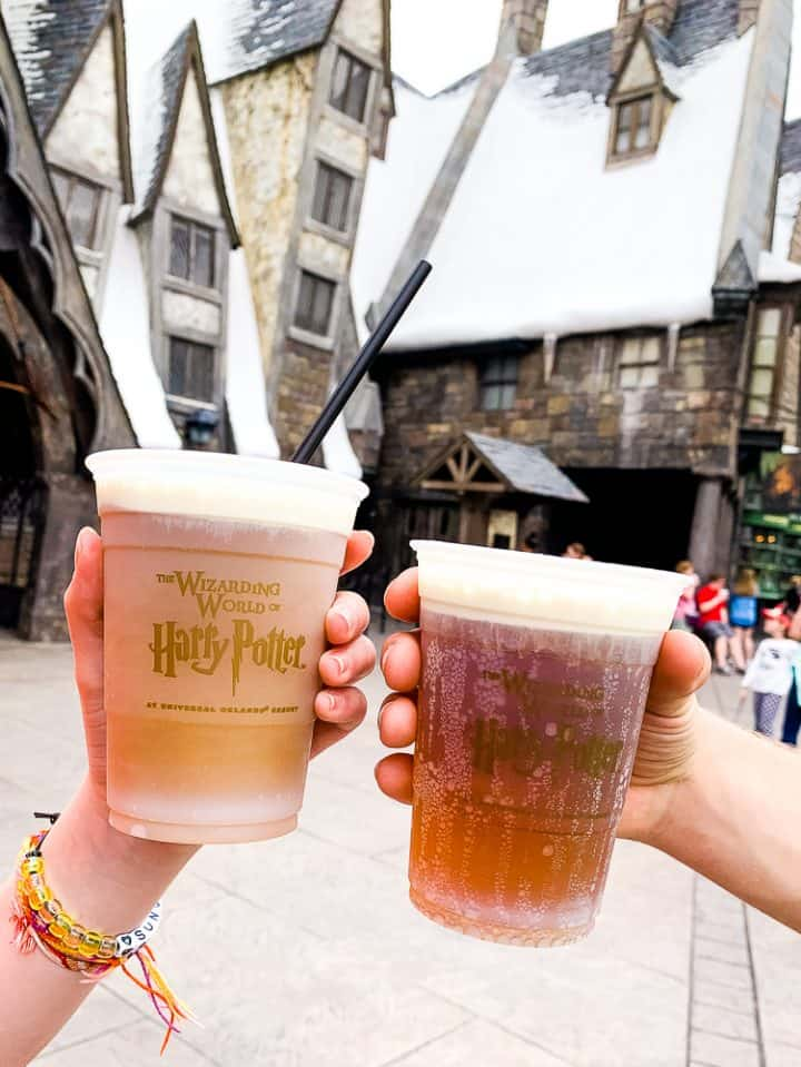 frozen and cold butterbeer at Universal Studios Florida